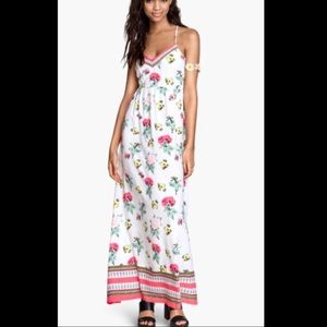 H&M Coachella white floral sundress